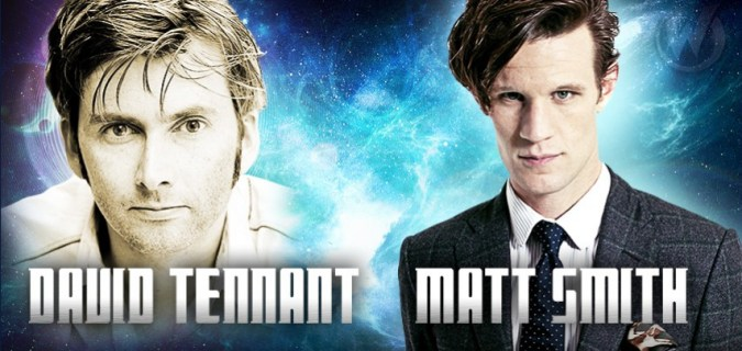 David Tennant and Matt Smith at Wizard World Madison
