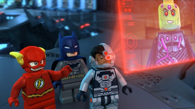 Flash, Batman, and Cyborg in LEGO DC Comics Super Heroes: Justice League: Cosmic Clash