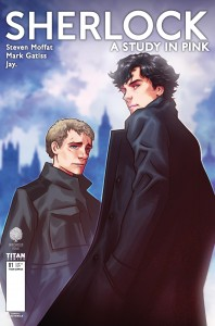 Sherlock manga cover by Alex Ronald