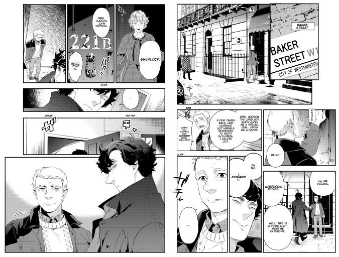 Sherlock manga art by Jay