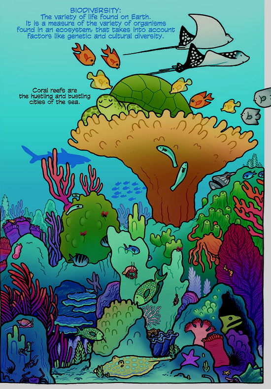 Coral reef art by Maris Wicks