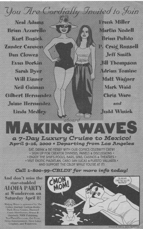 Making Waves CBLDF cruise ad