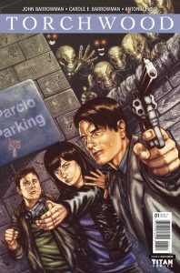 Torchwood #1 cover by Blair Shedd