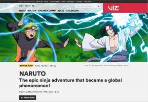 Viz Media website screenshot
