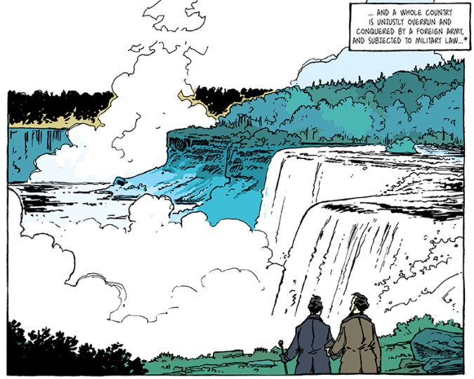 Panel from Thoreau: His Sublime Life by A. Dan
