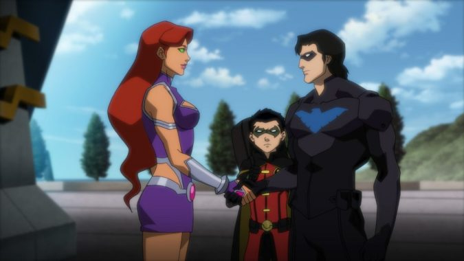 Justice League vs. Teen Titans - Starfire, Robin, and Nightwing