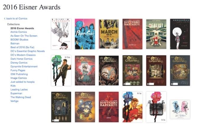 Hoopla Eisner Award collection