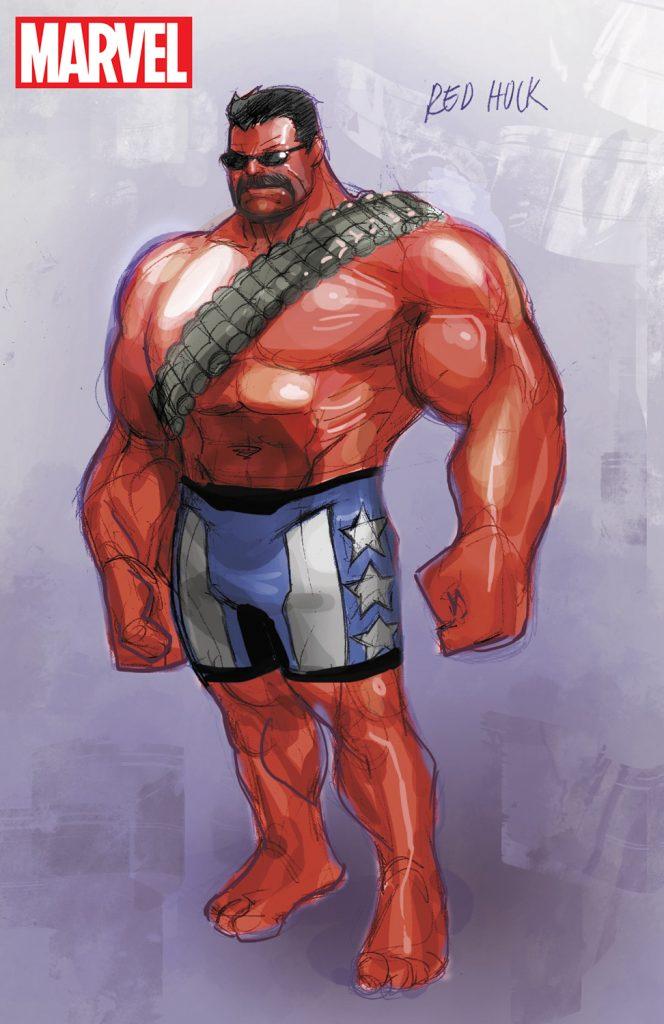 Thunderbolt Ross, the Red Hulk by Paco Medina