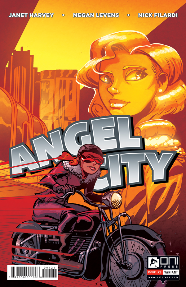 Angel City #1 variant cover by Michael Avon Oeming