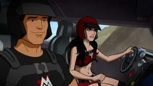 Paige and the Miz in Scooby-Doo! and WWE: Curse of the Speed Demon