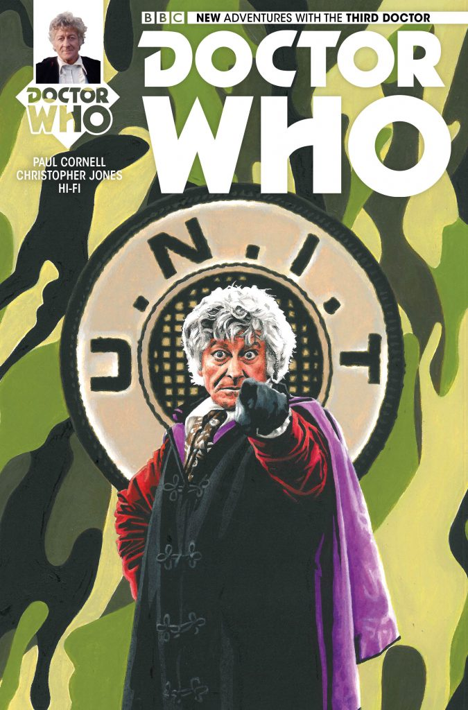 Doctor Who: The Third Doctor #1 Diamond UK variant cover by Andy Walker
