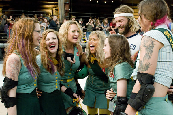 Wiig, Barrymore, Bell, Eve, Page, Wilson, and unknown in Whip It