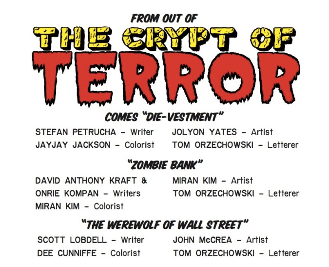 Tales From the Crypt table of contents
