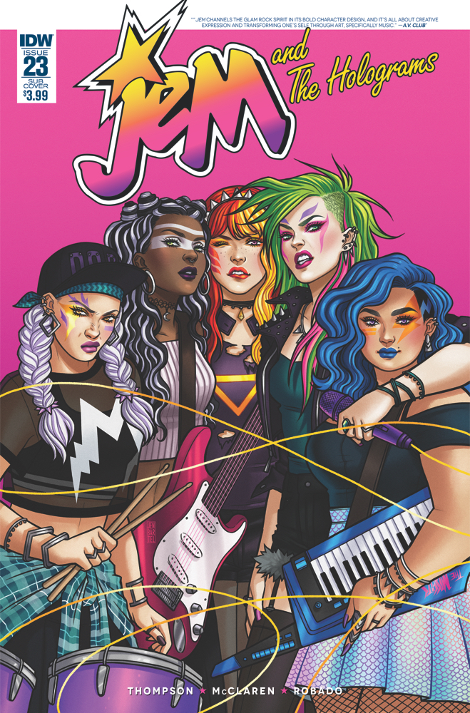 Jem and the Holograms #23  Subscription Cover by Jen Bartel