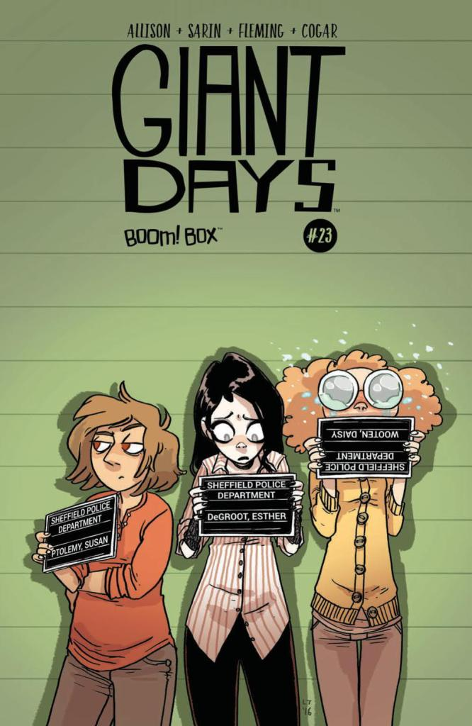 Giant Days #23 cover by Lissa Treiman