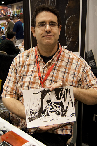Steve Lieber at a convention
