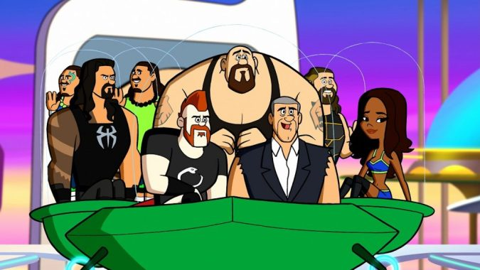 WWE wrestlers in The Jetsons & WWE: Robo-Wrestlemania