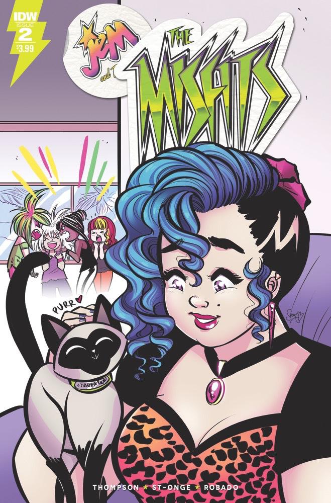 Jem: The Misfits #2 cover by M. Victoria Robado