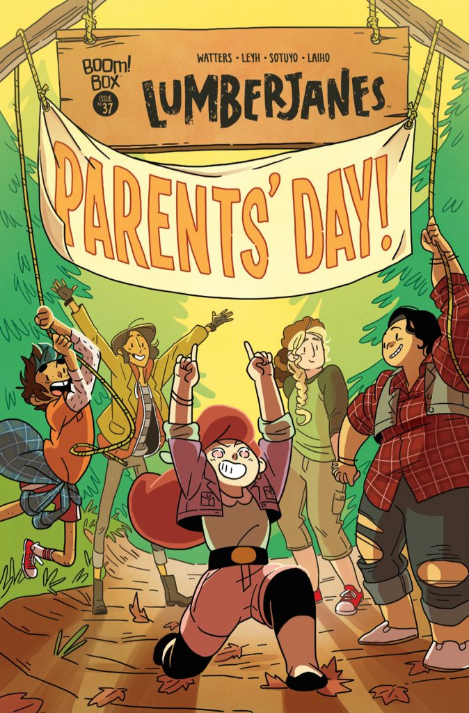 Lumberjanes #37 cover by Kat Leyh