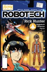 Robotech #1 action figure variant cover by Blair She'd