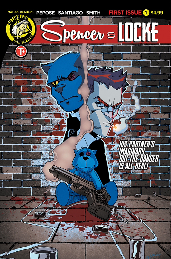 Spencer and Locke #1 variant cover by Joe Mulvey