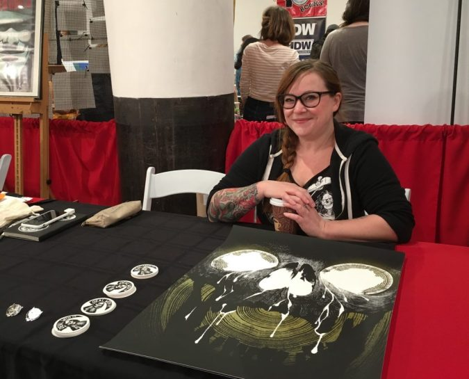 Becky Cloonan at MoCCA Fest 2017