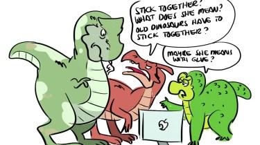 Dinosaur cartoon by Rob Walton