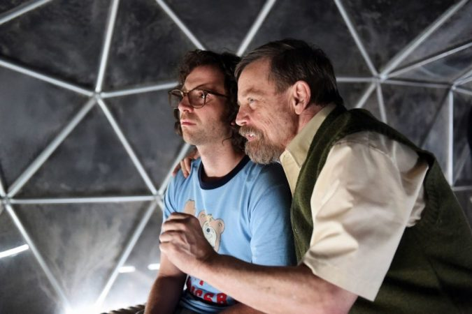 Mark Hamill with Kyle Mooney in Brigsby Bear