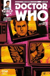 Doctor Who: The Tenth Doctor Year Three #6 cover by Antonio Fuso