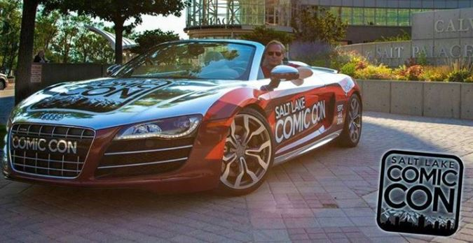 Salt Lake Comic Con promo car