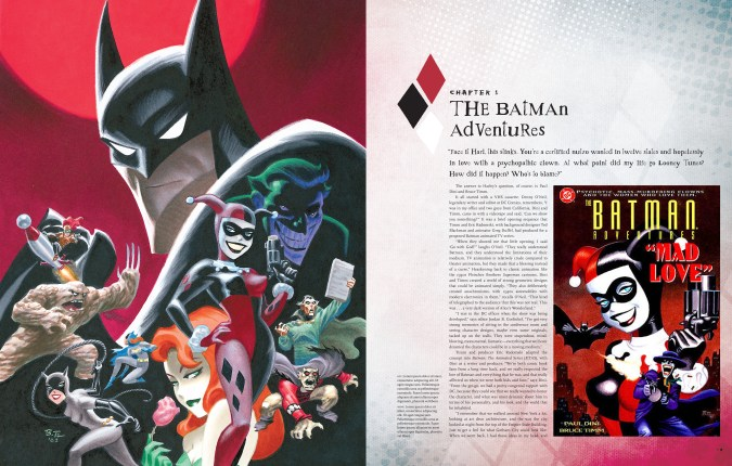 The Art of Harley Quinn sample page spread