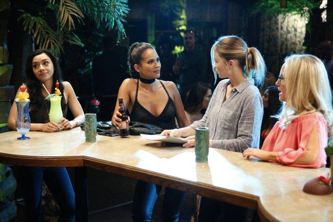 Aimee Garcia, Lesley-Ann Brandt, Lauren German, and Rachael Harris in Lucifer Season 2