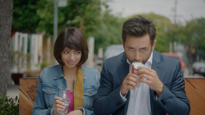 Kate Micucci and Justin Chatwin in Unleashed