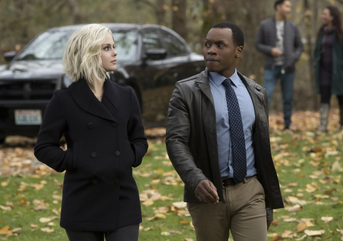 Liv (Rose McIver) and Clive (Malcolm Goodwin) in iZombie season 3