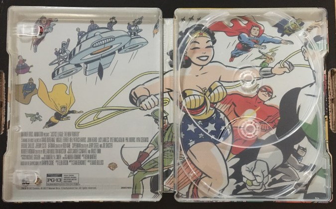 Justice League: The New Frontier Commemorative Edition steelbook inside
