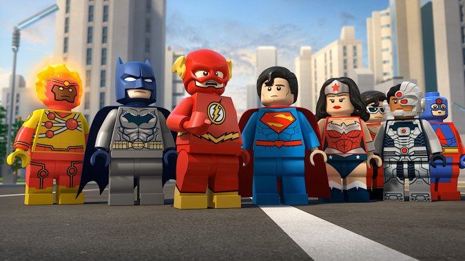 The Justice League in Lego DC Super Heroes: The Flash