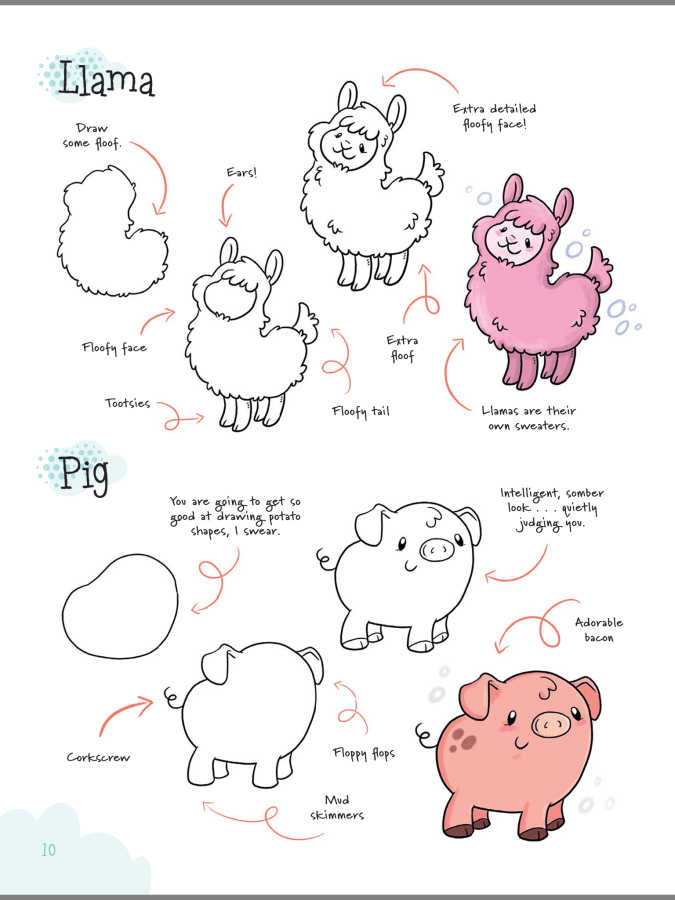 Drawing Cute with Katie Cook sample page