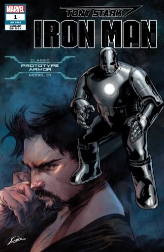 Prototype Armor Variant Cover - Tony Stark Iron Man #1