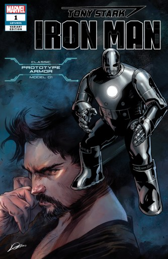 Prototype Armor Variant Cover - Tony Stark Iron Man #1