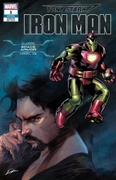 Classic Space Armor Variant Cover - Tony Stark Iron Man #1