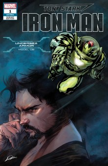 Undersea Armor Variant Cover - Tony Stark Iron Man #1