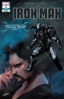 Prototype War Machine Armor Variant Cover - Tony Stark Iron Man #1