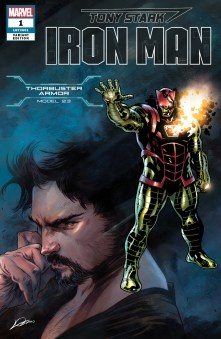 Thorbuster Armor Variant Cover - Tony Stark Iron Man #1