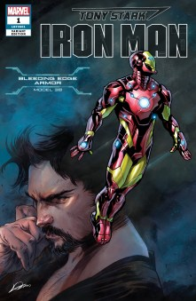 Bleeding Edge Armor Variant Cover - Tony Stark Iron Man #1