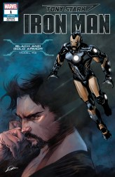 Black and Gold Armor Variant Cover - Tony Stark Iron Man #1