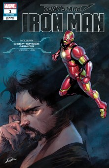 Modern Deep Space Armor Variant Cover - Tony Stark Iron Man #1