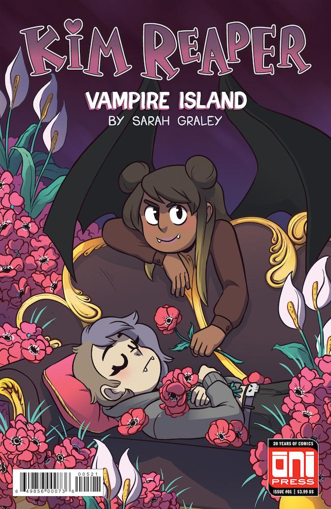 Kim Reaper: Vampire Island #1 cover by Katy Farina