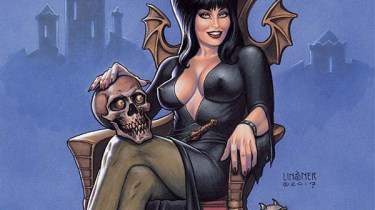 Elvira: Mistress of the Dark #1 cover by Joseph Michael Linsner