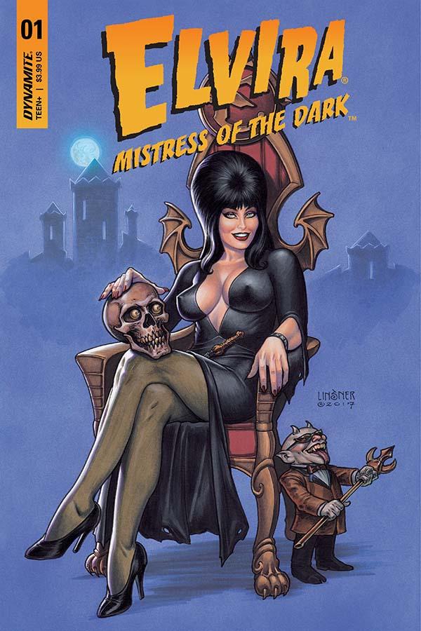 Elvira: Mistress of the Dark #1 cover by Joseph Michael Linsner