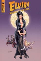 Elvira: Mistress of the Dark #2 cover by Joseph Michael Linsner